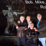 Bob Mike Ian and Rob outside Nottingham Castle