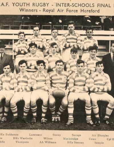RAF Youth Rugby - Inter-Schools  1964